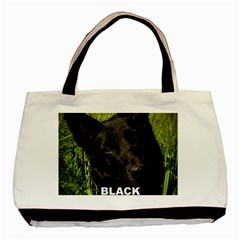 Black German Shepherd Love W Pic Basic Tote Bag