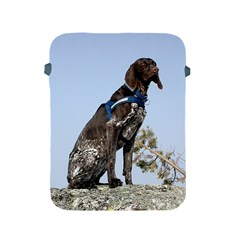 German Shorthair Pointer Sitting Apple iPad 2/3/4 Protective Soft Cases