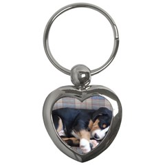 Greater Swiss Mountain Dog Puppy Key Chains (Heart)
