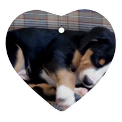 Greater Swiss Mountain Dog Puppy Heart Ornament (2 Sides)