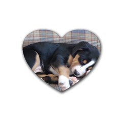 Greater Swiss Mountain Dog Puppy Rubber Coaster (Heart)