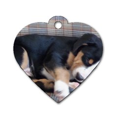 Greater Swiss Mountain Dog Puppy Dog Tag Heart (One Side)