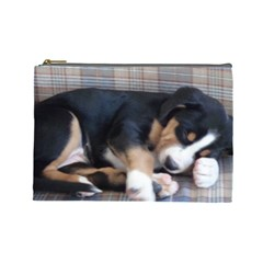 Greater Swiss Mountain Dog Puppy Cosmetic Bag (Large)