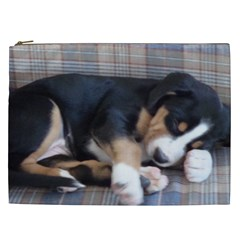 Greater Swiss Mountain Dog Puppy Cosmetic Bag (XXL)