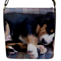Greater Swiss Mountain Dog Puppy Flap Messenger Bag (S)