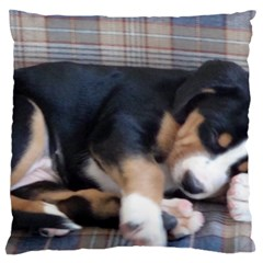 Greater Swiss Mountain Dog Puppy Large Flano Cushion Case (One Side)