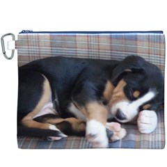 Greater Swiss Mountain Dog Puppy Canvas Cosmetic Bag (XXXL)