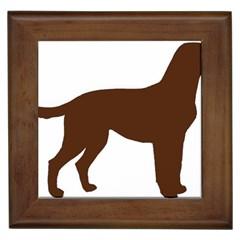 Labrador Retriever Choco Color Silo Framed Tiles