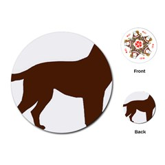 Labrador Retriever Choco Color Silo Playing Cards (Round)