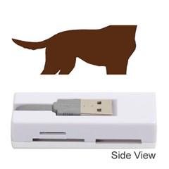 Labrador Retriever Choco Color Silo Memory Card Reader (Stick)