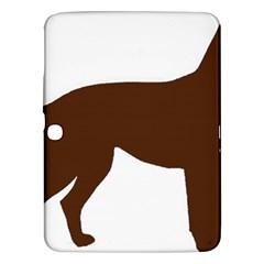 Labrador Retriever Choco Color Silo Samsung Galaxy Tab 3 (10.1 ) P5200 Hardshell Case
