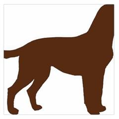Labrador Retriever Choco Color Silo Large Satin Scarf (Square)