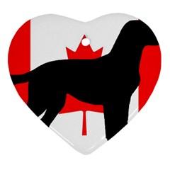 Labrador Retriever Silo Canadian Flag Ornament (Heart)