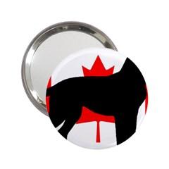 Labrador Retriever Silo Canadian Flag 2.25  Handbag Mirrors