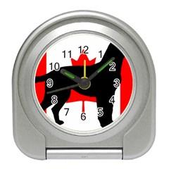 Labrador Retriever Silo Canadian Flag Travel Alarm Clocks