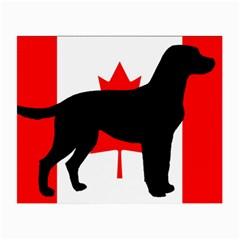Labrador Retriever Silo Canadian Flag Small Glasses Cloth