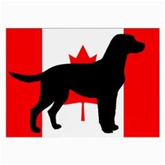 Labrador Retriever Silo Canadian Flag Large Glasses Cloth