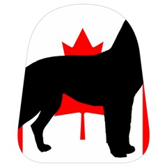 Labrador Retriever Silo Canadian Flag School Bags (Small)