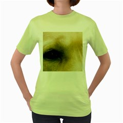Yellow Labrador Eyes Women s Green T-Shirt