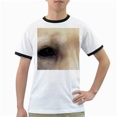 Yellow Labrador Eyes Ringer T-Shirts