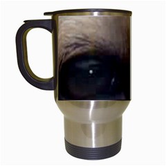 Yellow Labrador Eyes Travel Mugs (White)