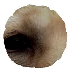Yellow Labrador Eyes Large 18  Premium Round Cushions
