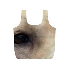 Yellow Labrador Eyes Full Print Recycle Bags (S)