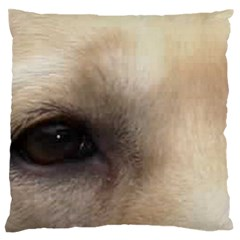 Yellow Labrador Eyes Large Flano Cushion Case (Two Sides)