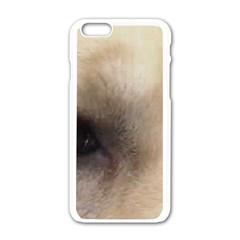 Yellow Labrador Eyes Apple iPhone 6/6S White Enamel Case