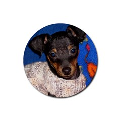 Min Pin In Sweater Rubber Coaster (Round)