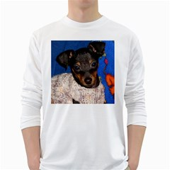 Min Pin In Sweater White Long Sleeve T-Shirts