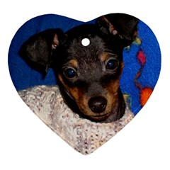 Min Pin In Sweater Heart Ornament (2 Sides)