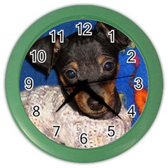 Min Pin In Sweater Color Wall Clocks