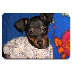 Min Pin In Sweater Large Doormat