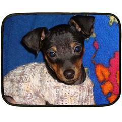 Min Pin In Sweater Double Sided Fleece Blanket (Mini)