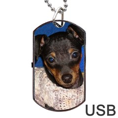 Min Pin In Sweater Dog Tag USB Flash (One Side)