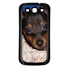 Min Pin In Sweater Samsung Galaxy S3 Back Case (Black)