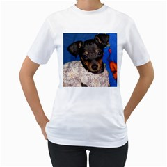 Min Pin In Sweater Women s T-Shirt (White)