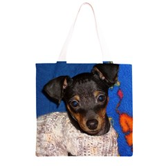 Min Pin In Sweater Grocery Light Tote Bag