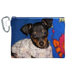 Min Pin In Sweater Canvas Cosmetic Bag (XL)