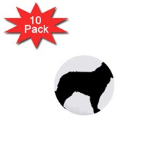Mudi Fekete Silhouette 1  Mini Buttons (10 pack)