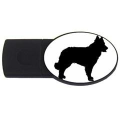Mudi Fekete Silhouette USB Flash Drive Oval (2 GB)