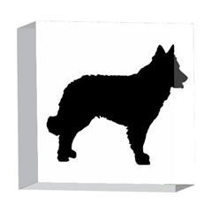 Mudi Fekete Silhouette 5  x 5  Acrylic Photo Blocks