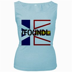 Newfoundland Name Flag Women s Baby Blue Tank Top