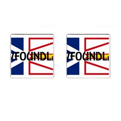Newfoundland Name Flag Cufflinks (Square)