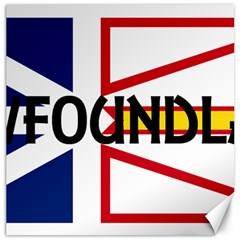 Newfoundland Name Flag Canvas 16  x 16