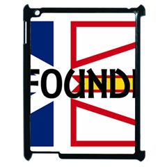 Newfoundland Name Flag Apple iPad 2 Case (Black)