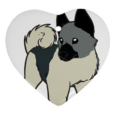 Norwegian Elkhound Cartoon Ornament (Heart)