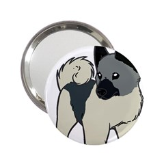 Norwegian Elkhound Cartoon 2.25  Handbag Mirrors