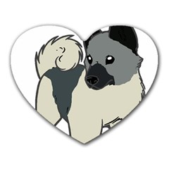 Norwegian Elkhound Cartoon Heart Mousepads